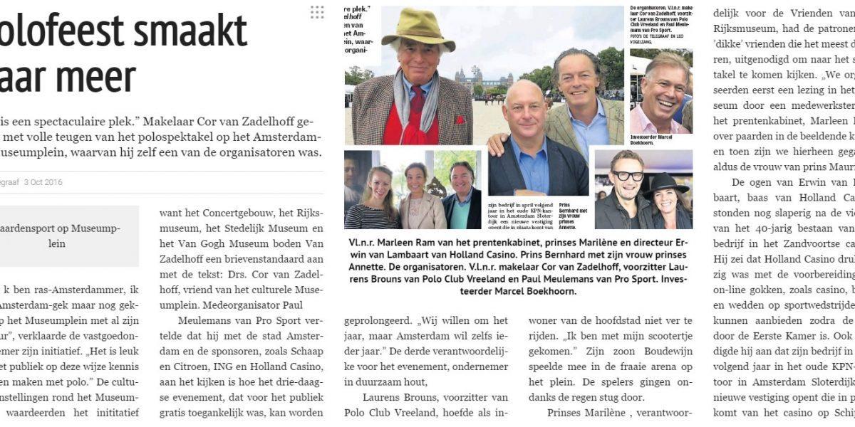 Museumplein Polo Amsterdam in de media